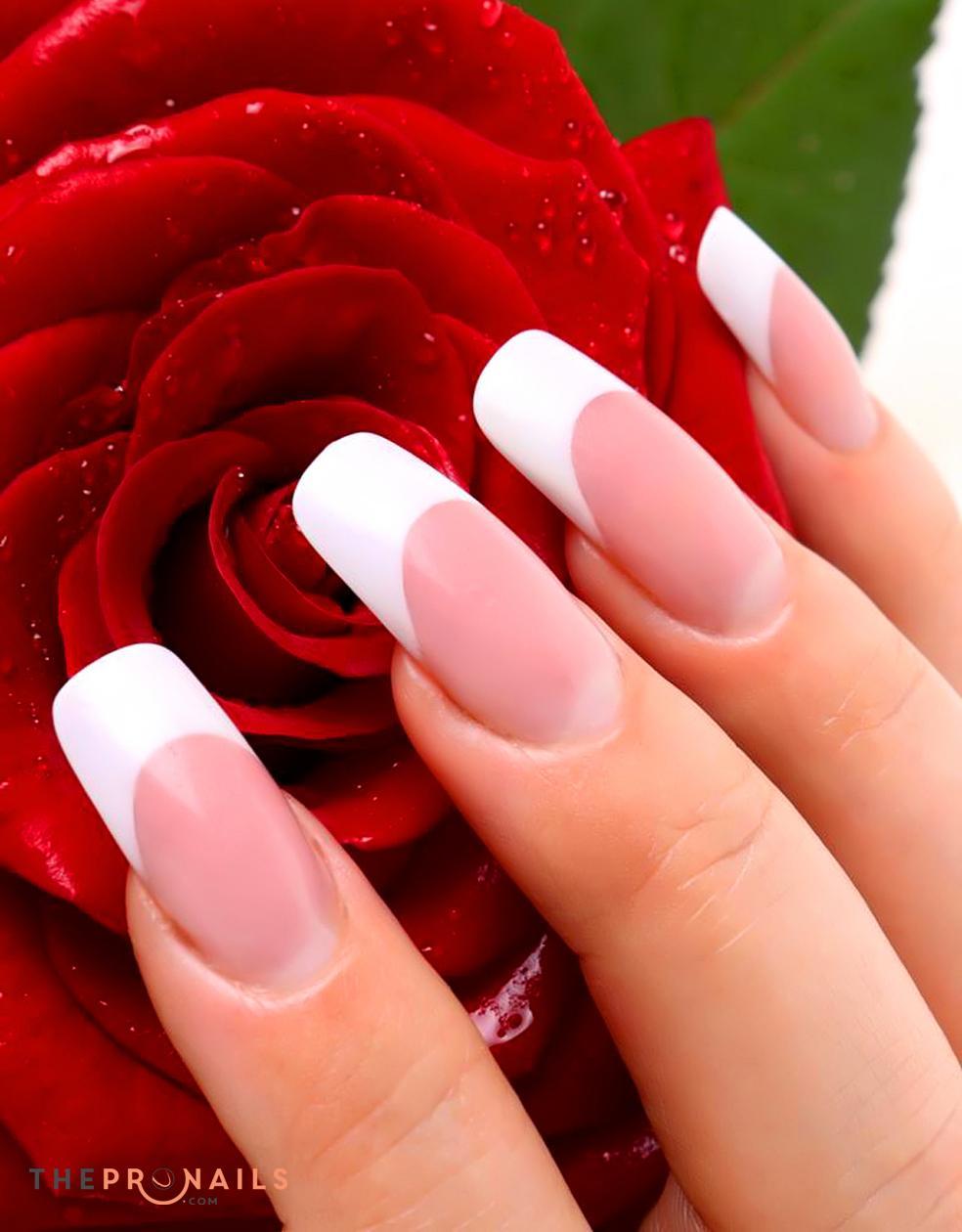 Princess Nails Peoria   Pink & White Acrylic